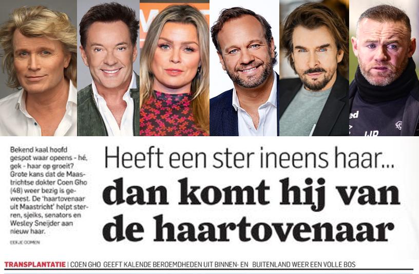 Haartransplantatie bekende Nederlanders